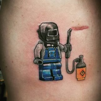 Tattoo of welding
