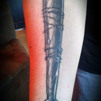Tattoo Bat Barbed Wire